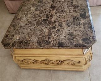 Granite top coffee table, excellent condition