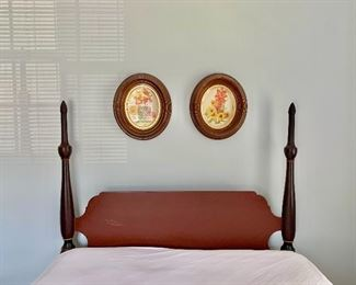 """$300 - Full size four poster bed.  Wear consistent with age and use. 63""""H x 53""""W x 80""""L"""