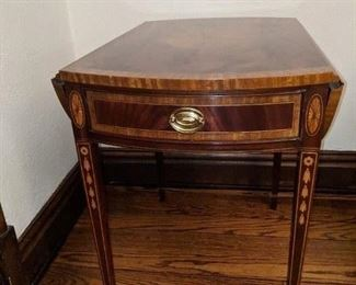 Councill Inlaid table  open sides oval top