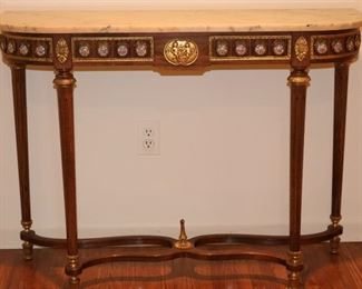 Marble top French Console Table