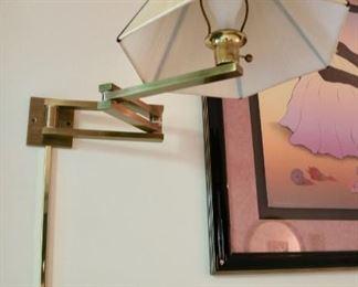 Pair Modern Brass Swing Lamps