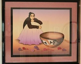 Signed & Numbered Gorman Lithograph