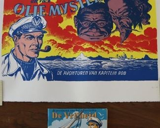 Two Dutch Lithograph and Comic Story Book