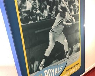 PRESALE! Very rare  (only 2 of each HOF player were made) posters out of Kauffman stadium. These were taken out of the diamond club when they renovated it a few years ago. George Brett $800 Willie Wilson $500