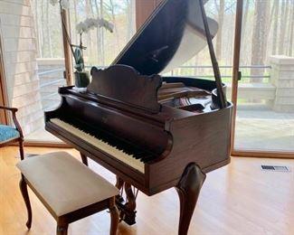 "27. Weber Baby Grand Piano & Bench 20391 (46"")"