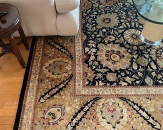 """25. Black & Gold Hand Knotted Rug from J & S Carpet (10'2"""" x 10'2"""")"""