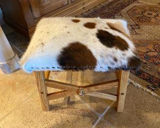 animal hide stool