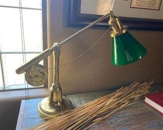 fishing reel desk lamp