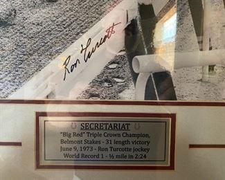 Secretariat signed picture