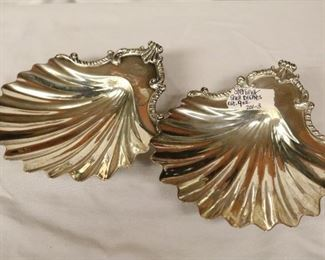 Sterling shell dishes