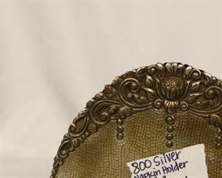 800 Silver Napkin holder