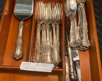 Sterling flatware set