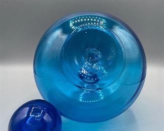 60s Blu Blenko Decanter