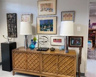 Lots of mid century and contemporary art