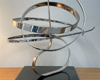 Kinetic Polished Stainless Steel Sculpture by Michael Cutler.