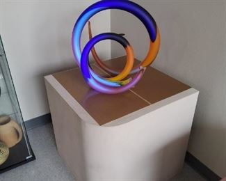 "NEON StudioGlass Art Sculpture by Paul Seide ""Radio- Frequency"""