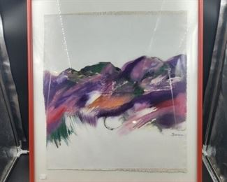 Pair of Framed Paintings by Trudy Sween.