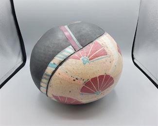 Raku studio pottery by Jo Zider