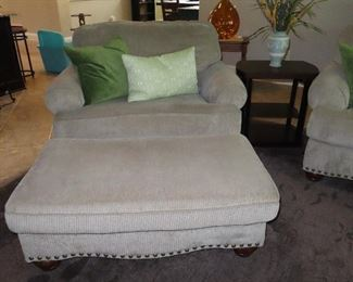 Side Chair & Ottoman  that Matches Couch