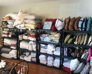 LINENS - home decor - pillows- and lots of it