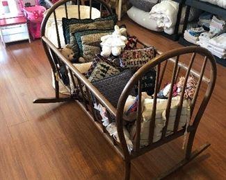 retro wood cradle