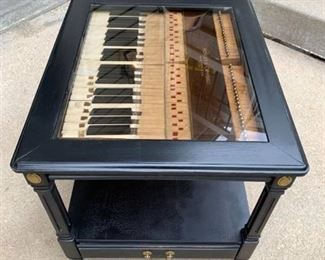 Custom Made Piano Shadow Box End Table - nicely distressed
