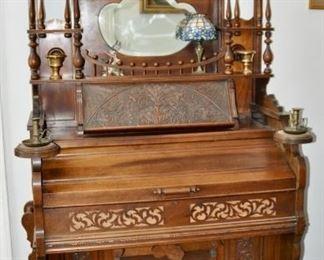 """$400  Pump Organ by Cornish & Co.  40 1/4""""W x 81""""H x 22 1/2""""D"""