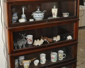 """$900 Globe Wernicke Barristers Bookcase 5 Sections w/bottom drawer  34""""W x 63 1/2"""" H x 9 1/2"""" D"""