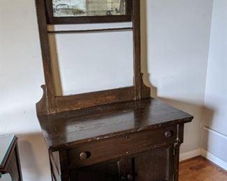 oak washstand