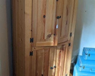 pine linen closet