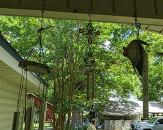 Lots of wind chimes