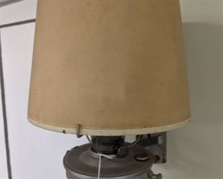 One of two gas lights