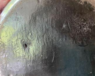 Signature of Aguilar pot