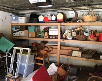 Baskets, tools and camping