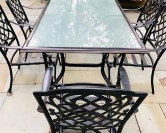 003 Martha Stewart Patio Table 6 Chairs