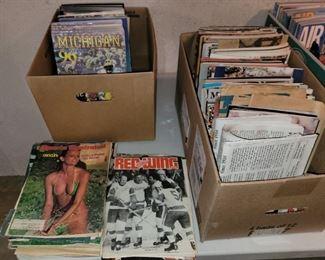 Vintage magazines and programs, Sports Illustrated, Michigan, Airplane, Hockey