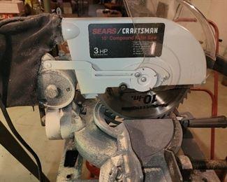 """$125.00, Craftsman 10"""" Compound Mitre Saw 3hp"""