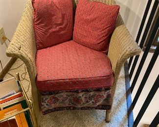 #11wicker side chair with cushion  $65.00