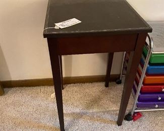 #12(2) square tall tables 17x30 $30 each  $60.00