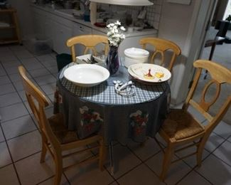 small round table with 4 chairs