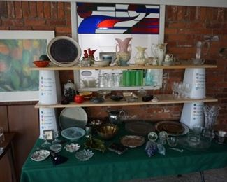 dishes, pottery, decor