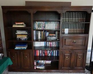 books, wall unit
