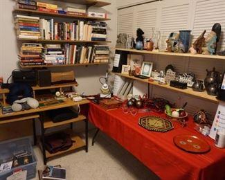 books,  small desk, decor