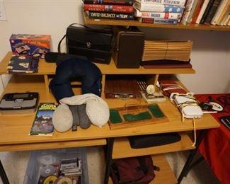 computer desk, office misc.