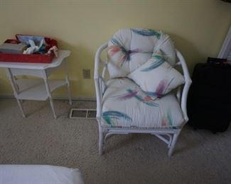 chair, spread, small table