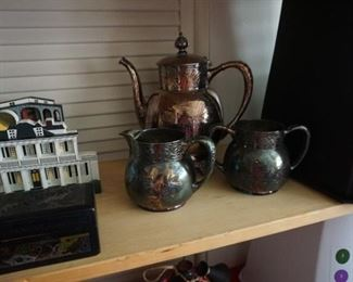 pewter coffee service
