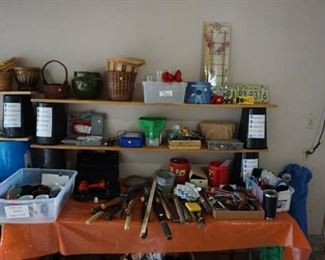 hand tools, flower pots, basets, vases