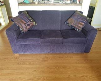 Deep Purple Flexsteel Couch ~ 79in. L x 38in. D x 36in. H