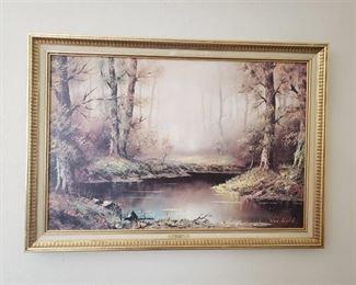 Framed Print 'Forest Mist' by Slater ~ 41 in x 29 in. Frame