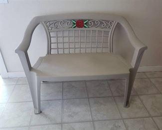 Plastic Patio Bench ~ 45 in. L